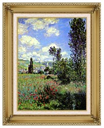 Claude Monet Path In The Ile Saint Martin Vetheuil canvas with gallery gold wood frame