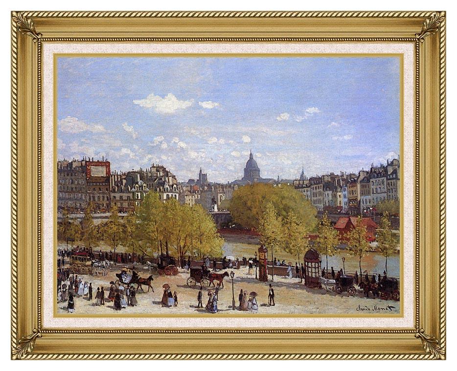 Claude Monet Quai du Louvre, Paris with Gallery Gold Frame w/Liner