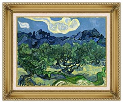 Vincent Van Gogh The Olive Trees canvas with gallery gold wood frame