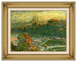 Claude Monet The Tuileries Study canvas with gallery gold wood frame