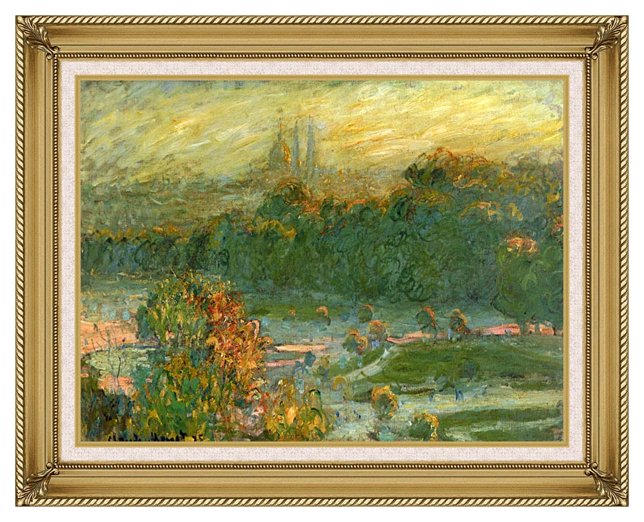 Claude Monet The Tuileries (study) with Gallery Gold Frame w/Liner