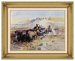 Charles Russell Redmans Meat canvas with gallery gold wood frame