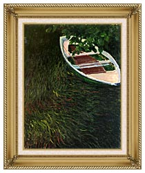 Claude Monet The Empty Boat canvas with gallery gold wood frame