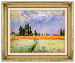 Claude Monet The Wheat Field canvas with gallery gold wood frame