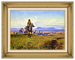 Charles Russell The Romance Makers canvas with gallery gold wood frame