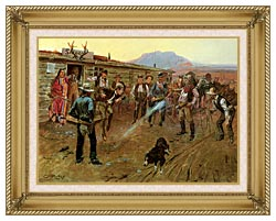 Charles Russell The Tenderfoot canvas with gallery gold wood frame