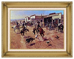 Charles Russell Utica canvas with gallery gold wood frame