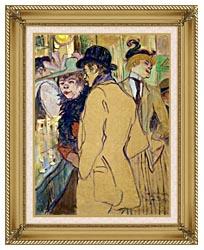 Henri De Toulouse Lautrec Alfred La Guigne canvas with gallery gold wood frame