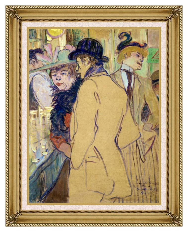 Henri de Toulouse Lautrec Alfred la Guigne with Gallery Gold Frame w/Liner
