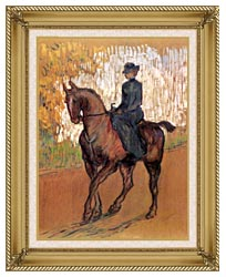 Henri De Toulouse Lautrec Amazone canvas with gallery gold wood frame