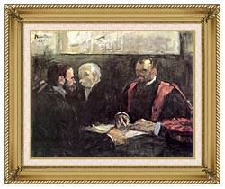 Henri De Toulouse Lautrec An Examination At The Faculty Of Medicine Paris canvas with gallery gold wood frame