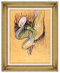 Henri De Toulouse Lautrec Loie Fuller canvas with gallery gold wood frame