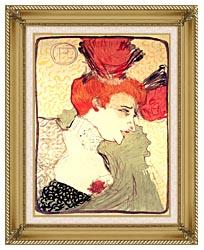 Henri De Toulouse Lautrec Marcelle Lender canvas with gallery gold wood frame