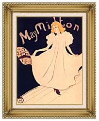 Henri De Toulouse Lautrec May Milton canvas with gallery gold wood frame