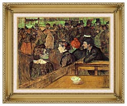 Henri De Toulouse Lautrec The Moulin De La Galette canvas with gallery gold wood frame