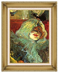 Henri De Toulouse Lautrec At The Rat Mort Detail canvas with gallery gold wood frame