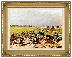 Henri De Toulouse Lautrec Celeyran View Of The Vineyards canvas with gallery gold wood frame