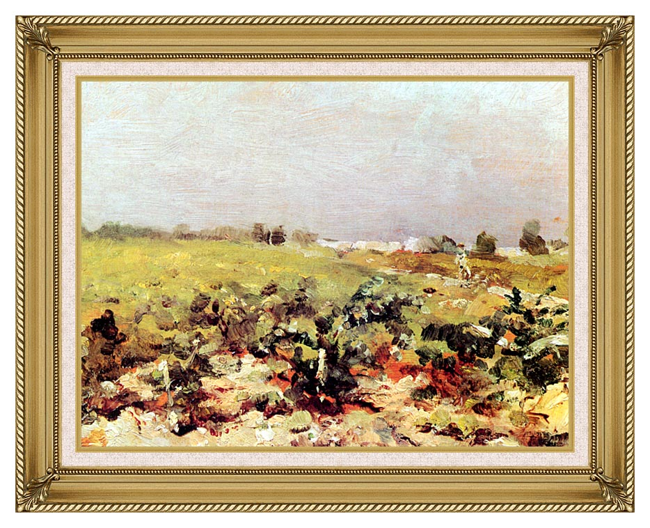 Henri de Toulouse Lautrec Celeyran View of the Vineyards with Gallery Gold Frame w/Liner