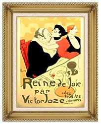 Henri De Toulouse Lautrec Reine De Joie Par Victor Joze canvas with gallery gold wood frame