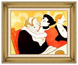 Henri De Toulouse Lautrec Reine De Joie Par Victor Joze Detail canvas with gallery gold wood frame