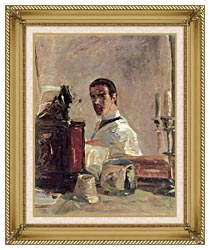 Henri De Toulouse Lautrec Henri De Toulouse Lautrec Self Portrait canvas with gallery gold wood frame