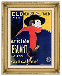 Henri De Toulouse Lautrec Eldorado Aristide Bruant canvas with gallery gold wood frame