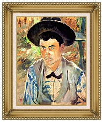 Henri De Toulouse Lautrec Study For A Young Routy canvas with gallery gold wood frame