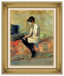 Henri De Toulouse Lautrec Study Of A Nude canvas with gallery gold wood frame