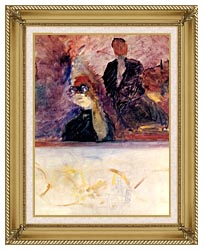 Henri De Toulouse Lautrec Theater Box With The Gilded Mask canvas with gallery gold wood frame