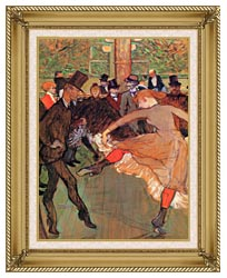 Henri De Toulouse Lautrec Training Of New Girls By Valentin The Boneless canvas with gallery gold wood frame