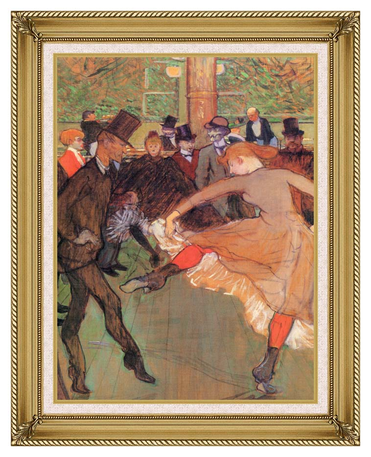 Henri de Toulouse Lautrec Training of New Girls by Valentin the Boneless with Gallery Gold Frame w/Liner
