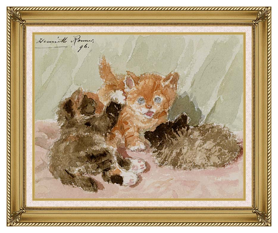 Henriette Ronner Knip The Jester with Gallery Gold Frame w/Liner