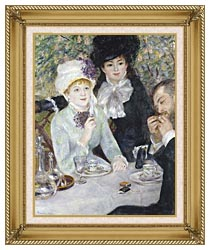 Pierre Auguste Renoir After The Luncheon canvas with gallery gold wood frame