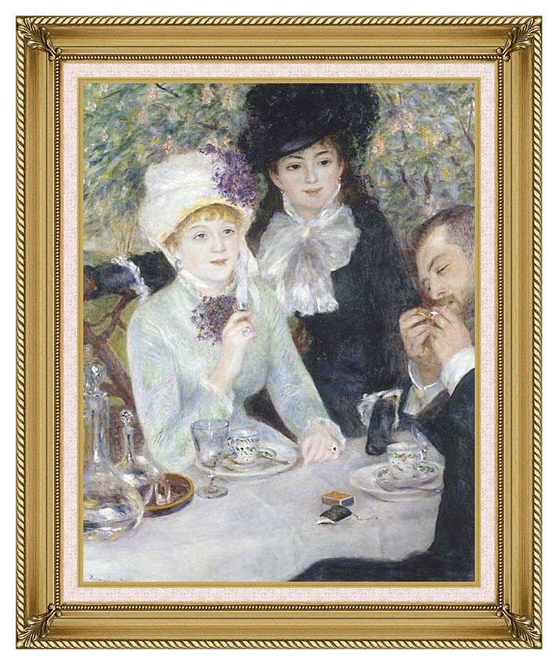 Pierre Auguste Renoir After the Luncheon with Gallery Gold Frame w/Liner