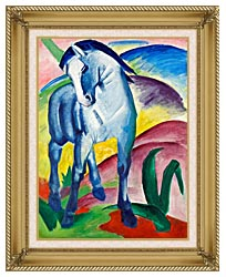 Franz Marc Blue Horse 1 canvas with gallery gold wood frame