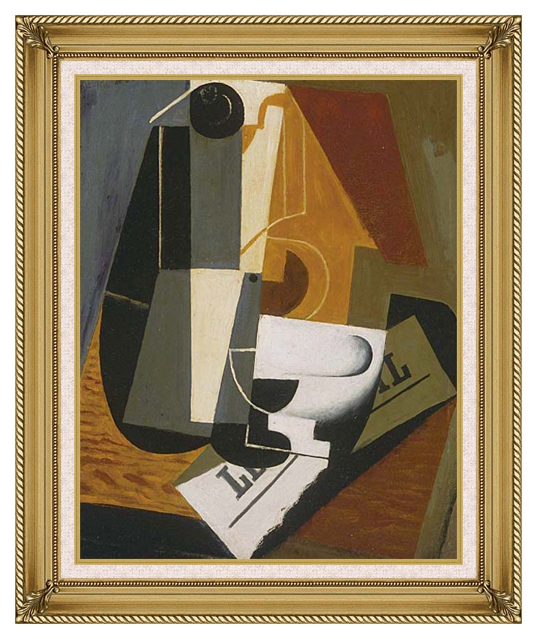 Juan Gris Coffee Pot with Gallery Gold Frame w/Liner