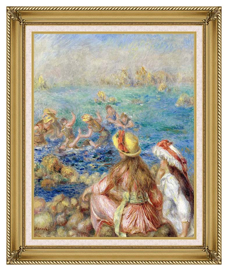 Pierre Auguste Renoir Baigneuses with Gallery Gold Frame w/Liner