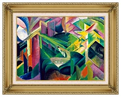 Franz Marc Deer In A Monastery Garden canvas with gallery gold wood frame
