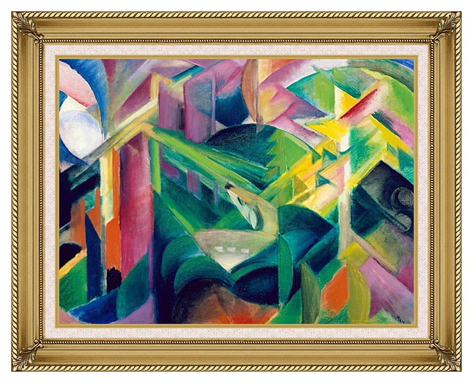 Franz Marc Deer in a Monastery Garden with Gallery Gold Frame w/Liner