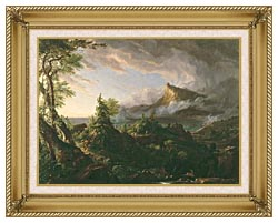 Thomas Cole The Course Of Empire The Savage State canvas with gallery gold wood frame