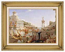 Thomas Cole The Course Of Empire The Consummation Of Empire canvas with gallery gold wood frame
