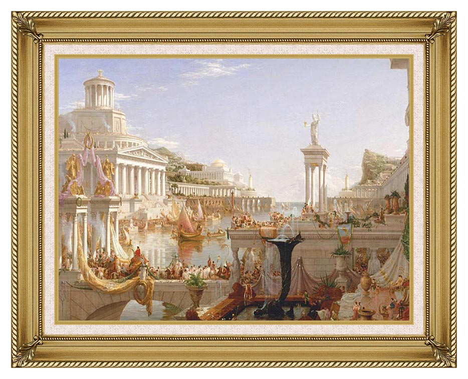 Thomas Cole The Course of Empire The Consummation of Empire with Gallery Gold Frame w/Liner