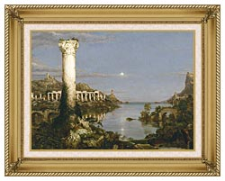 Thomas Cole The Course Of Empire Desolation canvas with gallery gold wood frame