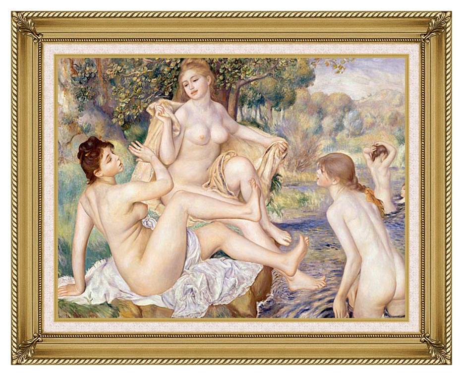 Pierre Auguste Renoir The Large Bathers with Gallery Gold Frame w/Liner