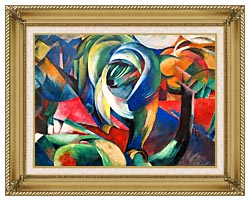 Franz Marc The Mandrill canvas with gallery gold wood frame