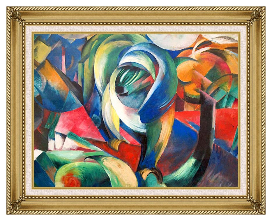 Franz Marc The Mandrill with Gallery Gold Frame w/Liner