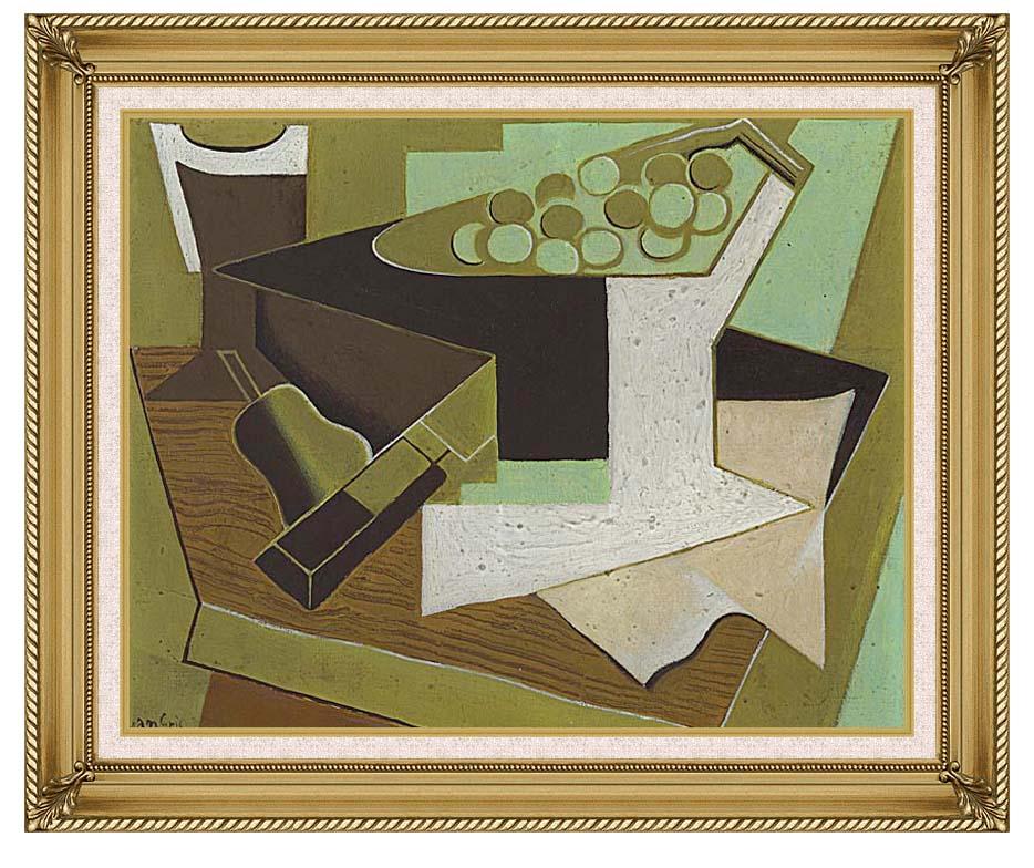 Juan Gris Grappe de raisin et poire with Gallery Gold Frame w/Liner