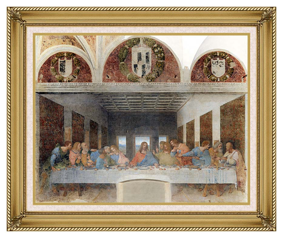 Leonardo Da Vinci The Last Supper (with Monastery Arches) 11x14 ...