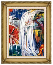Franz Marc The Bewitched Mill canvas with gallery gold wood frame