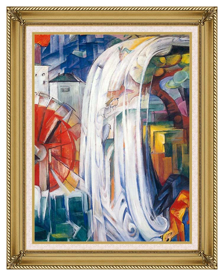 Franz Marc The Bewitched Mill with Gallery Gold Frame w/Liner